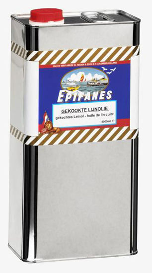 Afbeeldingen van Epifanes rauwe Lijnolie per 5 liter