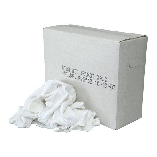 Afbeeldingen van Poetslappen wit 10 kg per doos