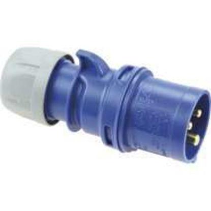 Afbeeldingen van CEE stekker (blauw) 220V 16A, 3 polig.