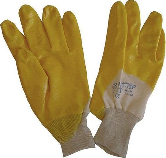 Afbeeldingen van werkhandschoen nitril geel