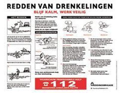 Afbeeldingen van Redden drenkelingen plaat NL