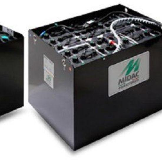 Afbeeldingen van Tractiebatterij 12x 2V Midac, 630Ah/C5, 810Ah/ C20