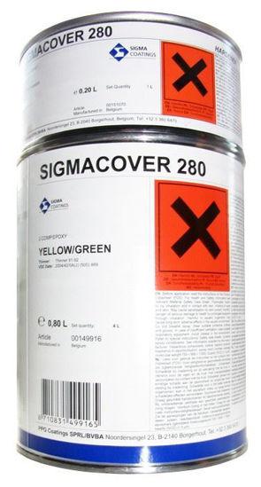 Afbeeldingen van Sigma cover 280 set a 4 liter yellow geen